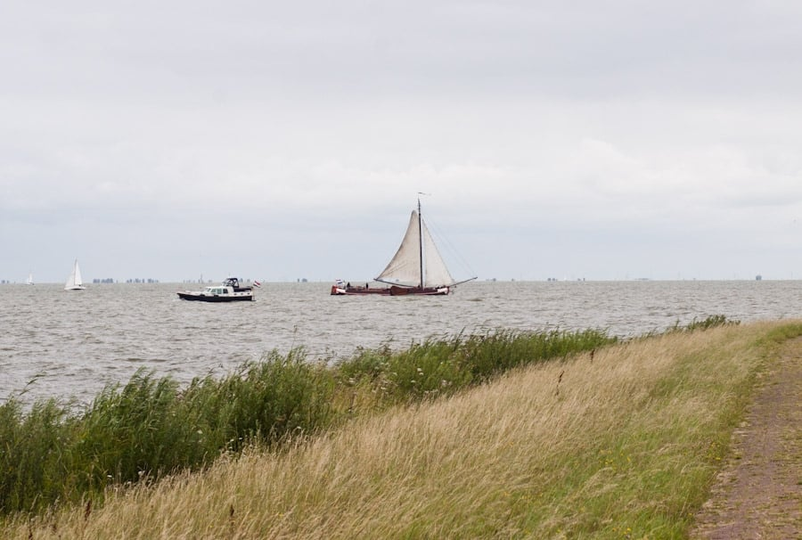 On way to the lighthouse at Marken