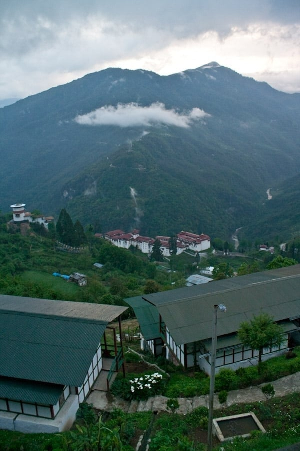 Trongsa Dzong from our room's balcony