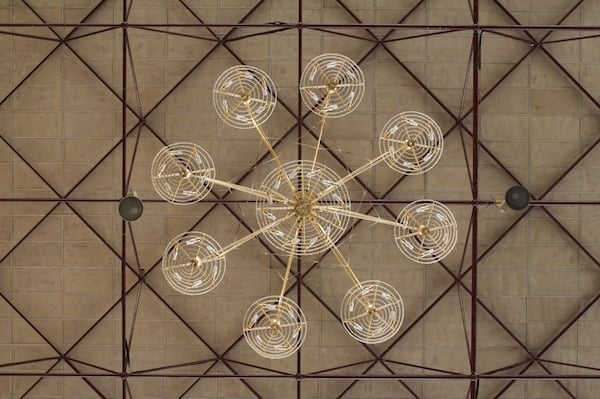 Chandelier at the Bylakuppe Monastery