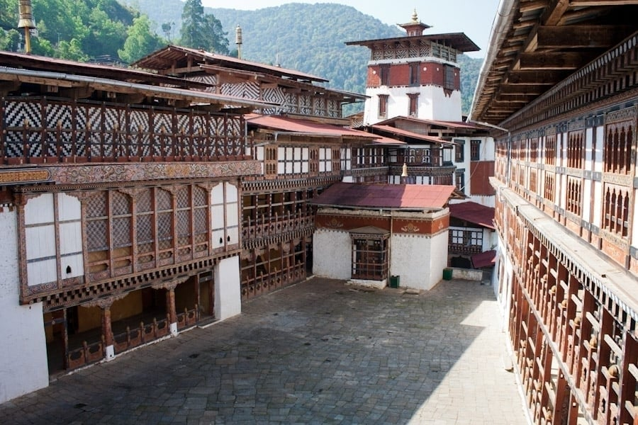 The Trongsa Dzong looked like it would take off like a spaceship