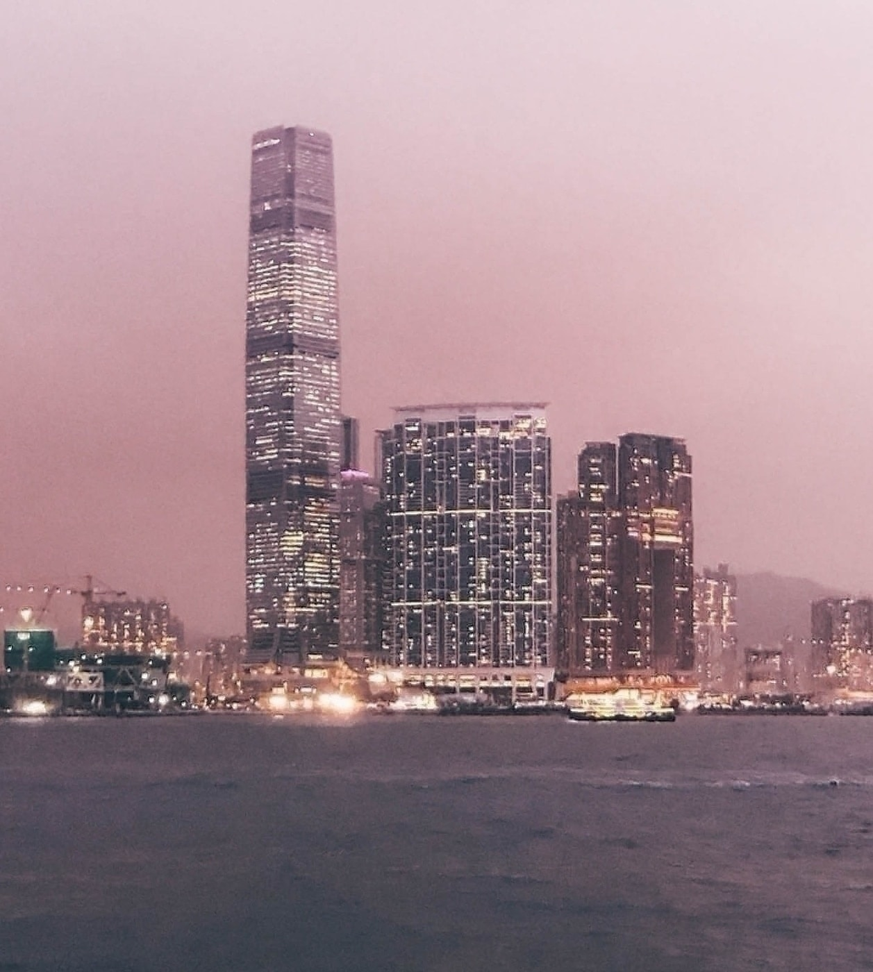 View from the Kowloon Ferry