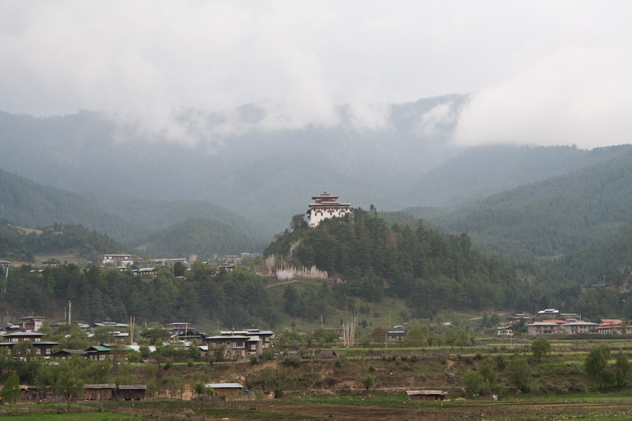 Jakar Dzong from a distance