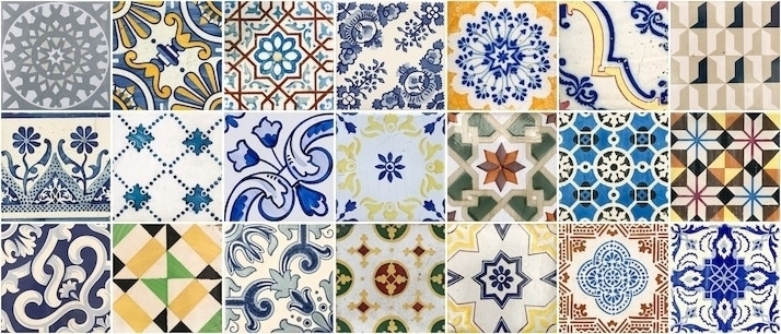 Colourful tiles of Porto